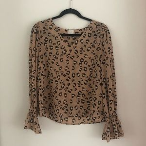 Target Leopard Top - Size Small